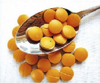 Man kan få curcumin, som er det aktive virkestoffet i gurkemeie, i pilleform.