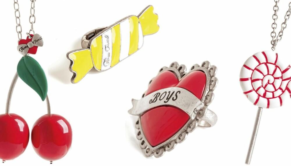 VINN SMYKKER: Nå har du sjansen til å vinne morsomme smykker som Fam Irvoll har designet for Arts & Craft.