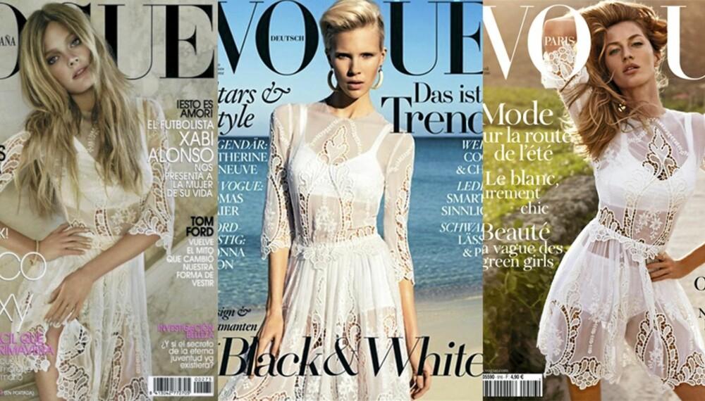 FAVORITTEN: Den hvite blondekjolen fra Dolce & Gabbana er en motefavoritt i vår.