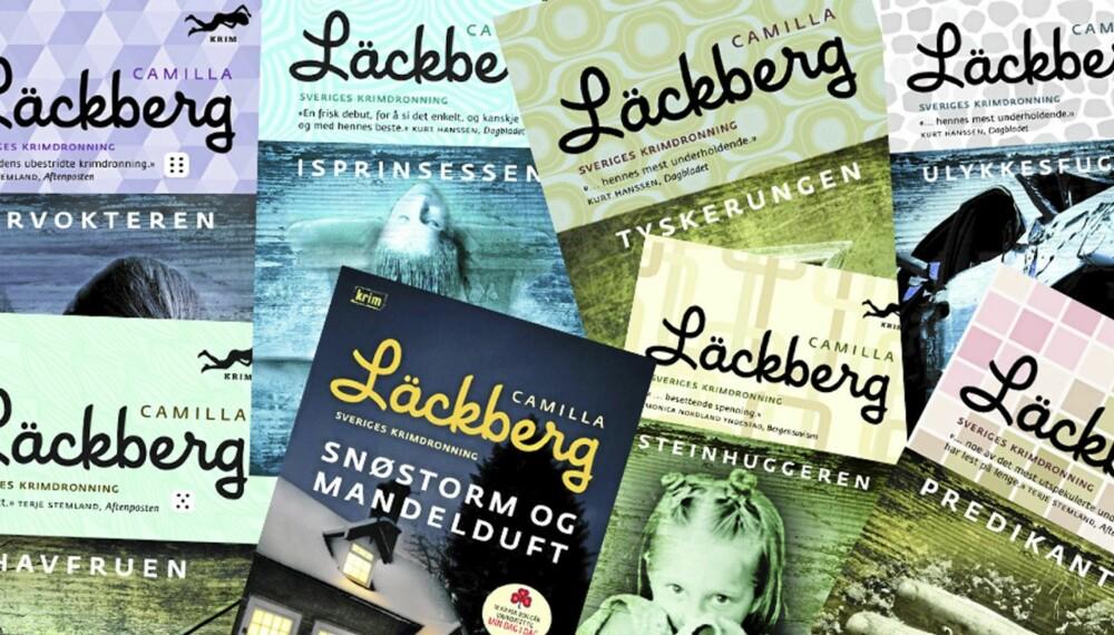 KONKURRANSE: Vinn åtte krimromaner av Camille Läckberg.