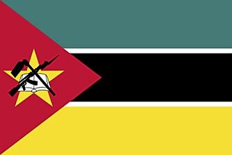 Flagget til Mosambik har en AK-47 i seg