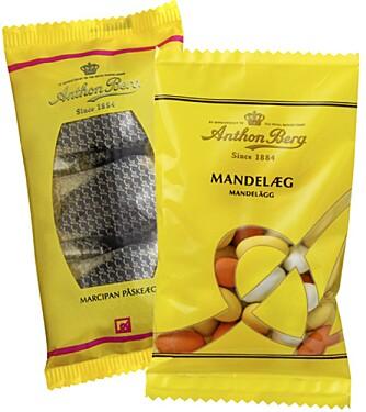 PÅSKEGODT: Vinn en kilo med blant annet marsipanegg og mandelegg fra Anton Berg.