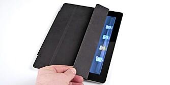 BRYTER: Dekselet fungerer også som en av- og på-bryter. iPad 2 slår seg automatisk av når dekselet legges over skjermen.