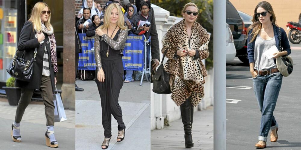 PLAGGENE GUTTA HATER: Sokker i skoene, haremsbukser, leopardmønster og boyfriend-jeans.