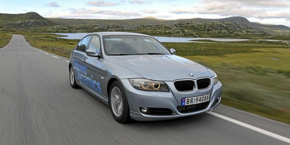 GJERRIG: BMW 320 sedan med diesel utmerker seg med lavt forbruk. FOTO: Terje Bjørnsen