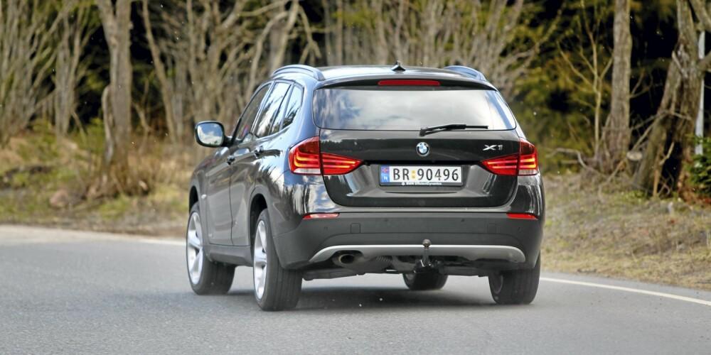 NØYSOM: BMW X1 xDrive 18d har 4WD, men er nøysom i kosten. FOTO: Terje Bjørnsen