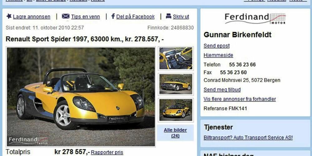 FRANSK: Renault Spider
