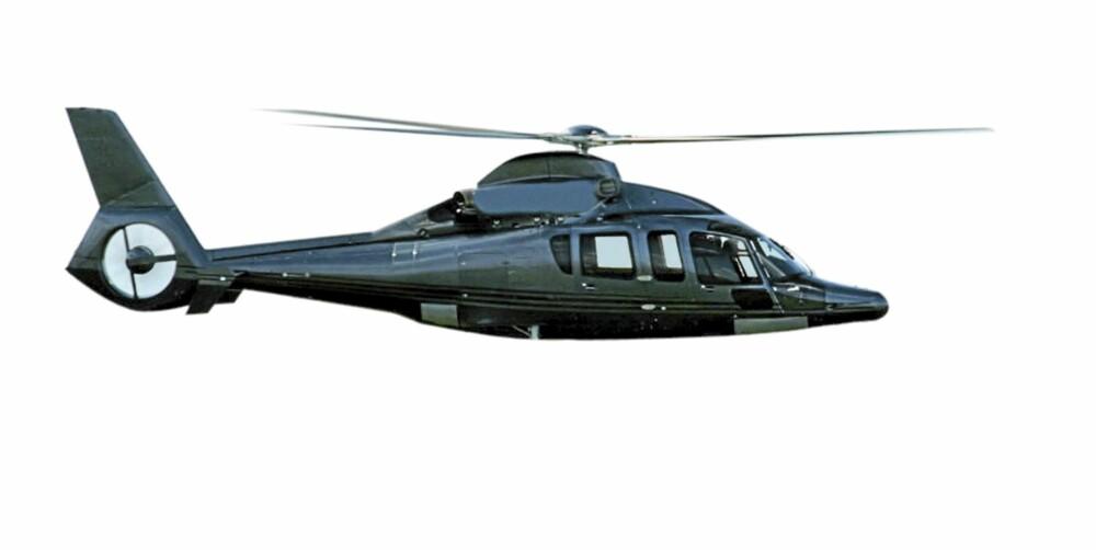 I BYEN: Når du skal helt frem til kontoret, kan det bli vanskelig med et fly. Da er Eurocopter Dauphin det beste valget.