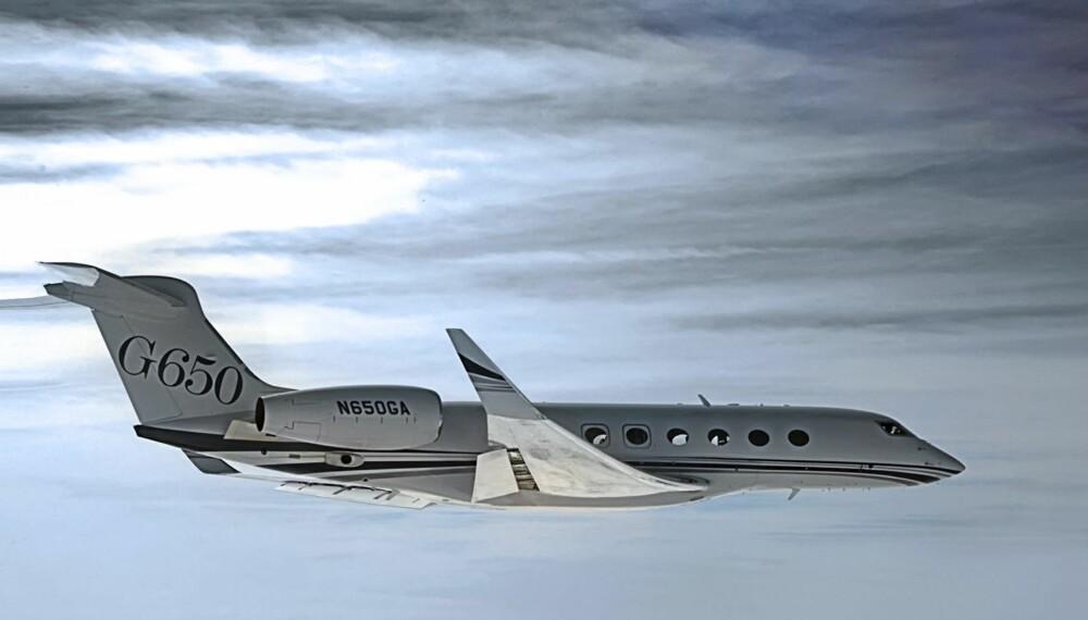 PRIVATJET: Dette privatflyet klarer nesten å bryte lydmuren.