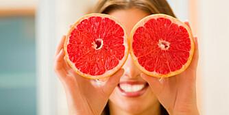 SUNT: Grapefrukt er sunt, men ikke hvis du ikke spiser andre matvarer også.