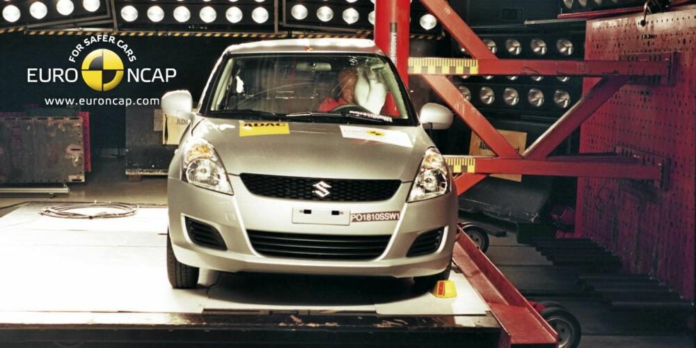 SIKKER: Suzuki Swift scorer svært godt i småbilsklassen. FOTO: Euro NCAP