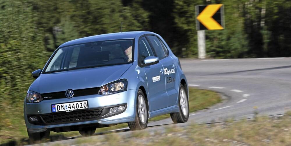 LITEN MOTOR: VW Polo BlueMotion, 75 hk: 0,46 l/mil. FOTO: Egil Nordlien, HM Foto