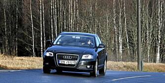 AUDI A3: Med bitteliten bensinmotor er Audi A3 raskere enn med 1,6 TDI, og forbruket ligger på samme nivå. FOTO: Petter Handeland