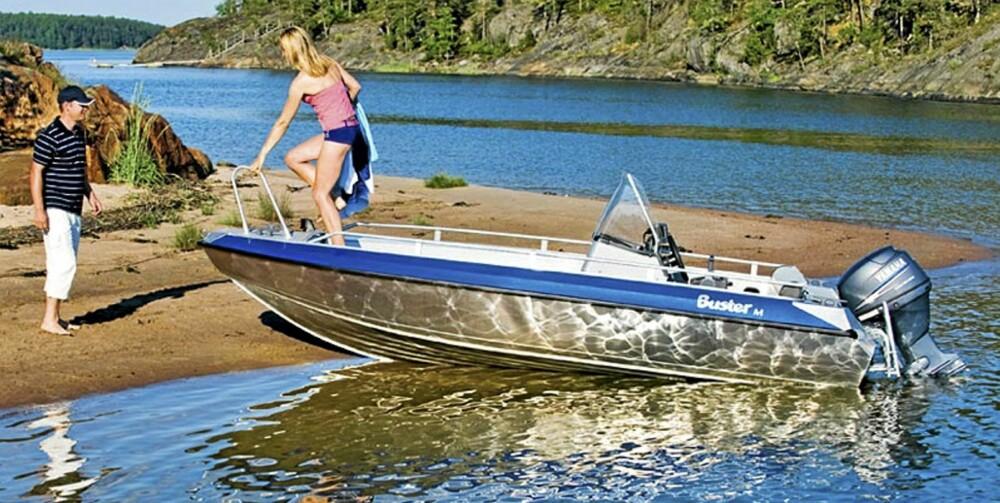 BUSTER: En aluminiumsbåt er robust, sterk og relativt lett.
