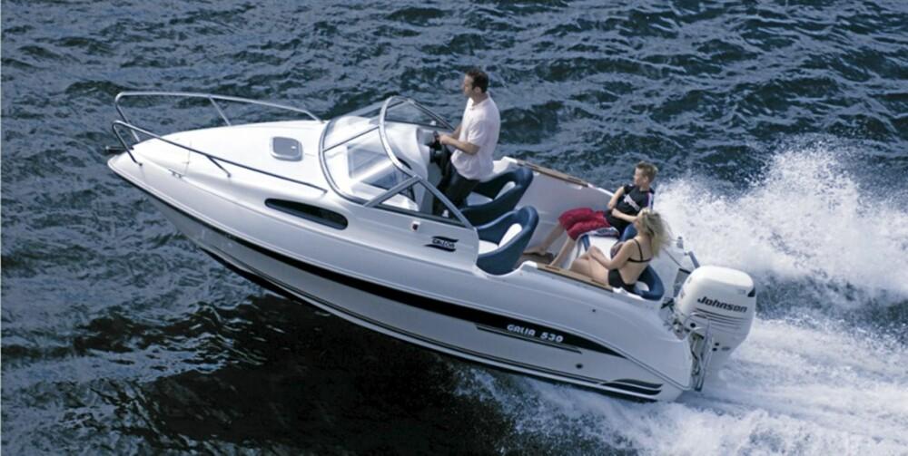 DAYCRUISER: En av de luneste rimelige bruktbåtene. Med en god kalesje tåler du også regnvær.