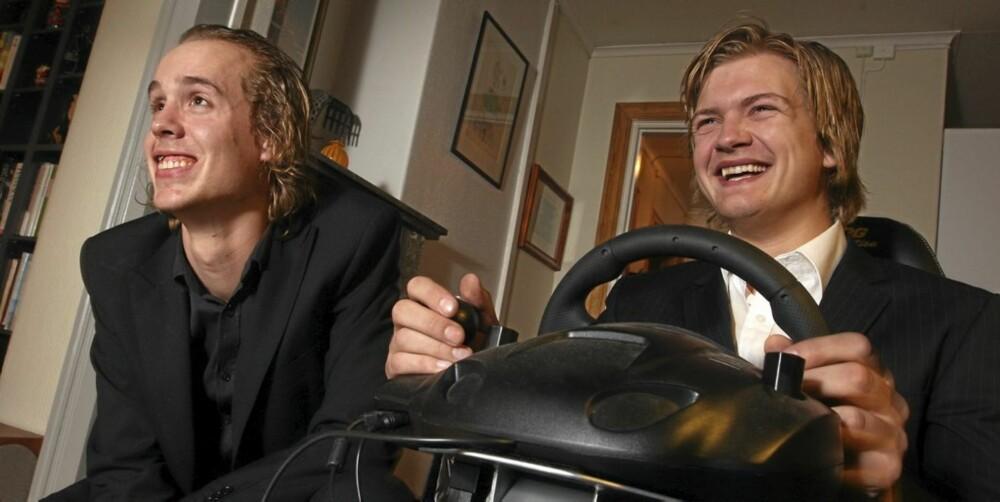DÅRLIGERE: Allerede ved lav promille kjører våre to forsøkskaniner vesentlig dårligere i bilspill.