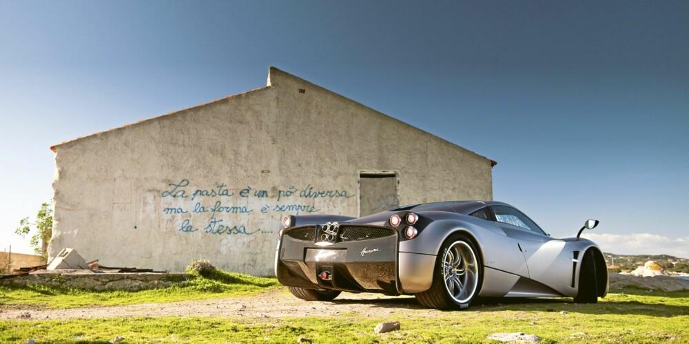 VOLDSOM: Huayra har samme forholdet mellom dreiemoment og vekt som Bugatti Veyron SuperSports.