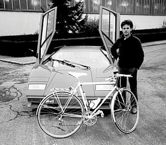 LAMBORGHINI-TIDEN: Dette bildet er av Horacio Pagani fra hans tid hos Lamborghini.