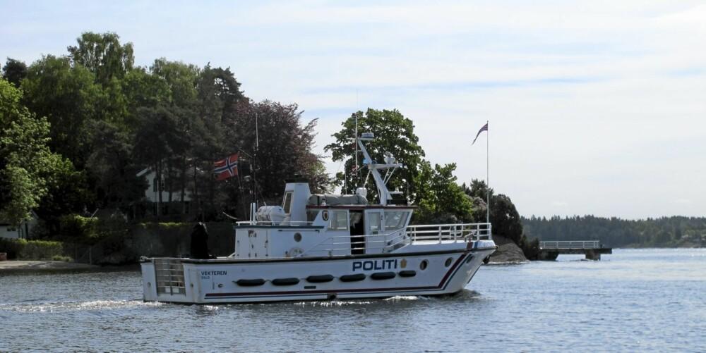 PÅ VAKT: Havnepolitiet er stadig på vakt og på jakt etter tyver. FOTO: Geir Svardal
