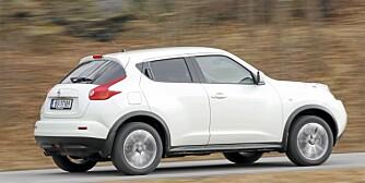 IKKE IMPONERENDE: Nissan Juke med 190-hesters bensinmotor imponerte oss ikke veldig.