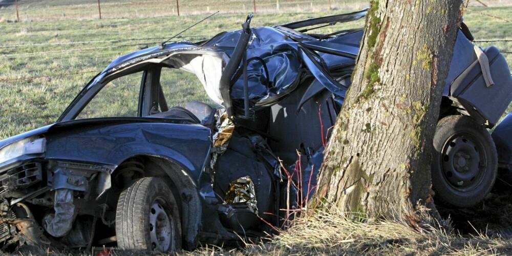 UTFORKJØRINGER: Mange av dødsulykkene i trafikken skjer ved utforkjøringer. ILLUSTRASJONSFOTO: Colourbox.no