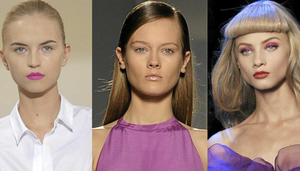 SMINKETRENDER: Både sterke farger og naturlig look er hot denne våren og sommeren.