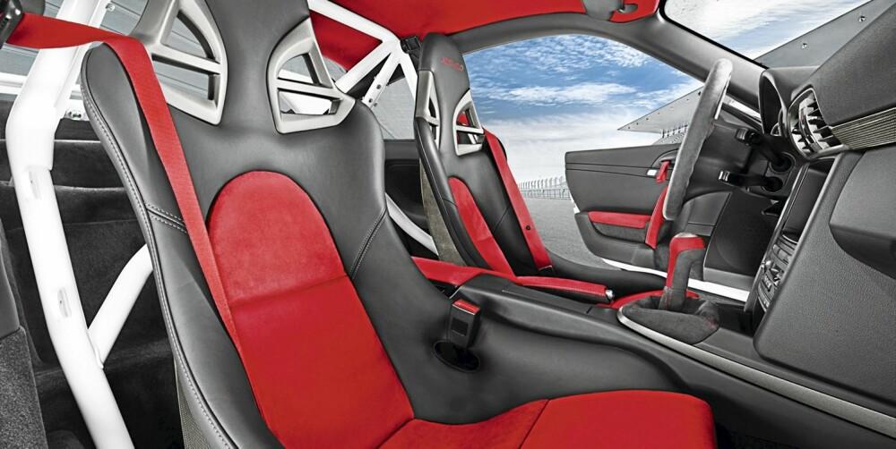 RACINGINSPIRERT: Interiøret levner ingen tvil om hva denne bilen er ment for.