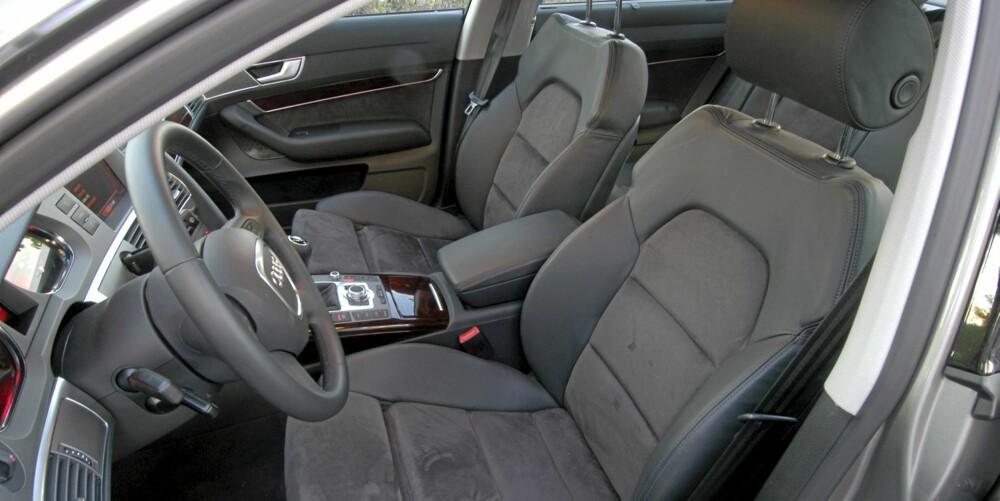 SPORTSSETER: Mange brukte Audi A6 er utstyrt med sportsseter, men også standardsetene gir god komfort.