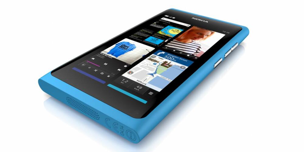 SLITESTERK: Nokia N9 er laget i det råsterke materialet polykarbonat