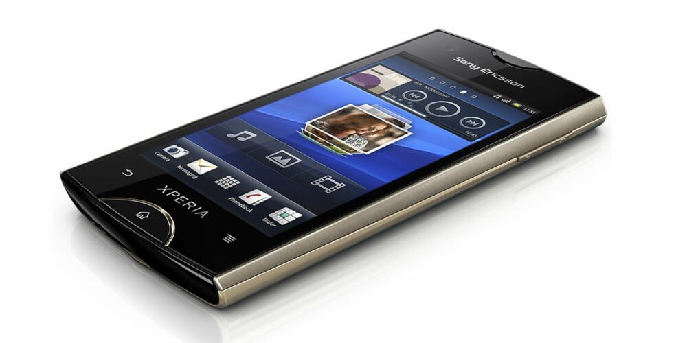ALUMINIUM: Sony Ericsson Ray er en solid Android-telefon i aluminium.