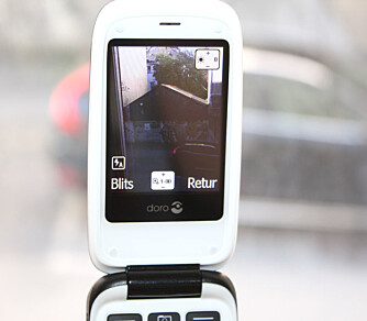 KAMERA: Telefonen har et 3,2 megapikslers kamera. Bildene egner seg til MMS-meldinger.