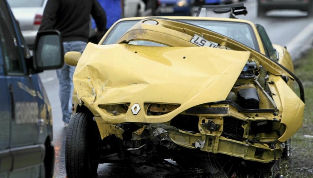 AVGJØRENDE: Det kan være avgjørende for utfallet i hvilken grad bilen du kjører takler en smell. Illustrasjonsfoto: Colourbox.no