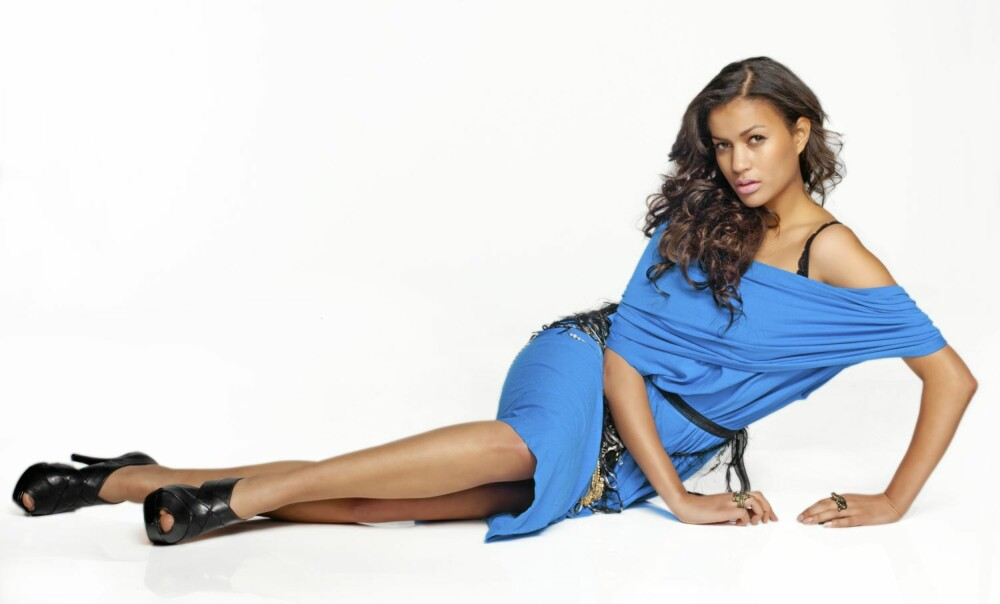 GASELLE: Med disse flotte bena håper Mimi at hun skal få gå modell for Victorias Secret i verdens største undertøysshow.