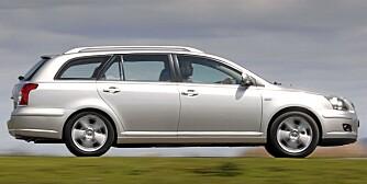 FAMILIEBIL: Toyota Avensis av den forrige generasjonen ble bygd fra 2003 til 2009. Foto: Produsenten