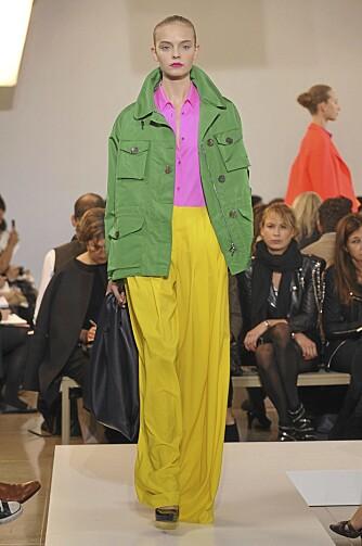 KNALL: Color blocking og knalle farger dundret ned catwalkene, og det er nå det gjelder. Jil Sander S/S 2011.