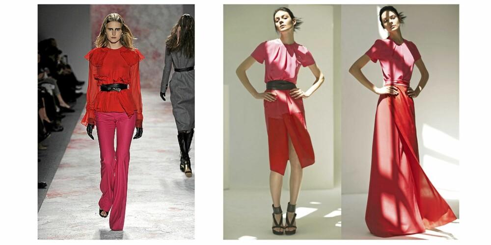 LEKKERT: Rødt og rosa er noe vi vanligvis aldri ser kombinert, men nå ser det ut til å bli en trend.
