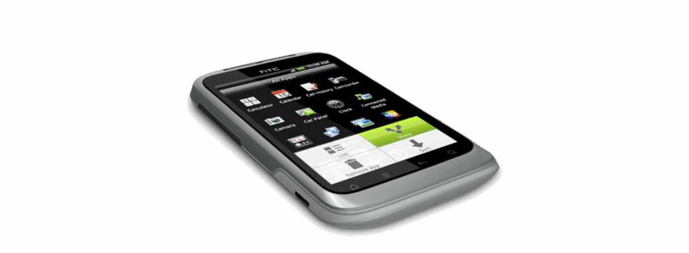 SNERTEN: HTC Wildfire S er liten og grei.