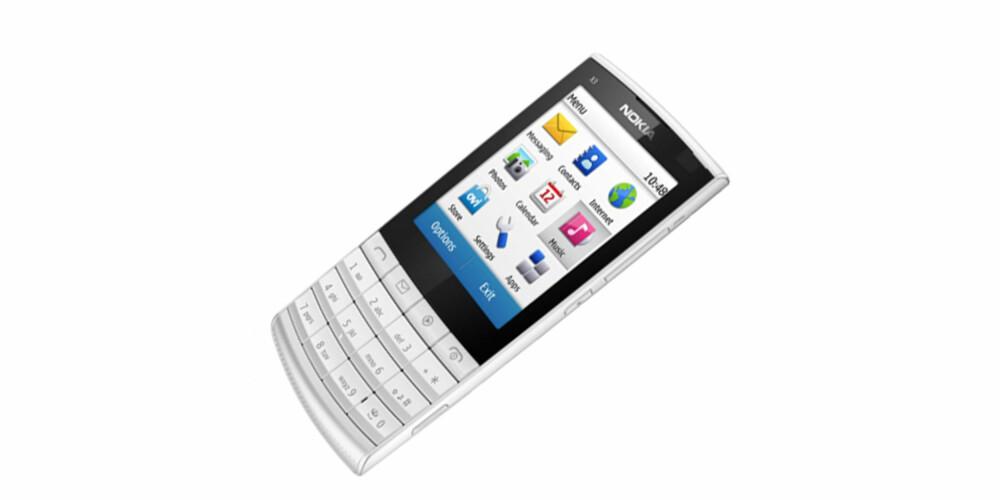 GREI: Nokia X3-02 er en liten og grei telefon for deg som vil ha det enkelt.