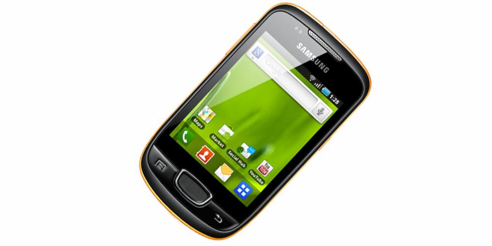 MINI: Samsung S5570 Galaxy Mini er både liten og billig.