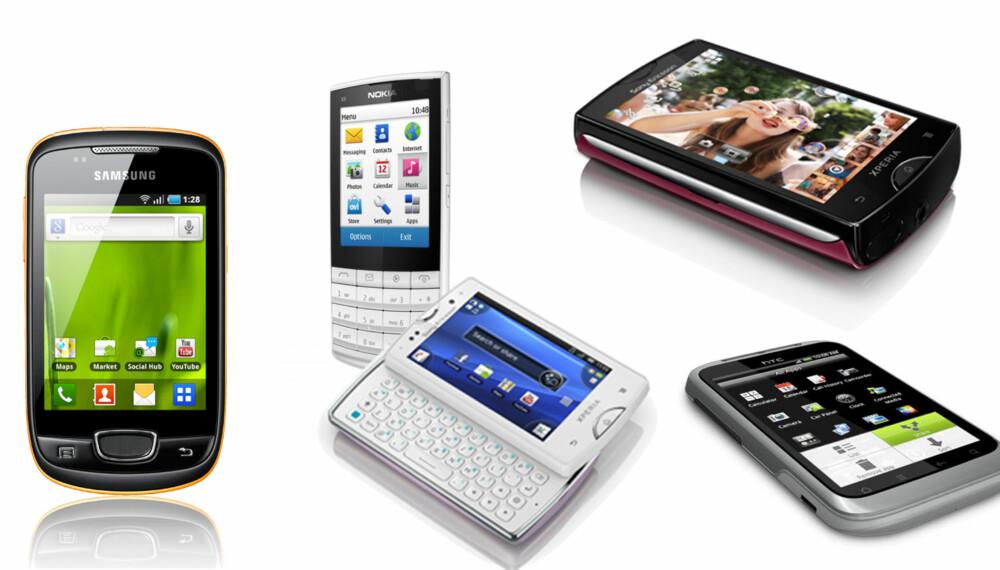 SMÅGODT: Her er telefonene for deg som bryr deg om størrelsen.