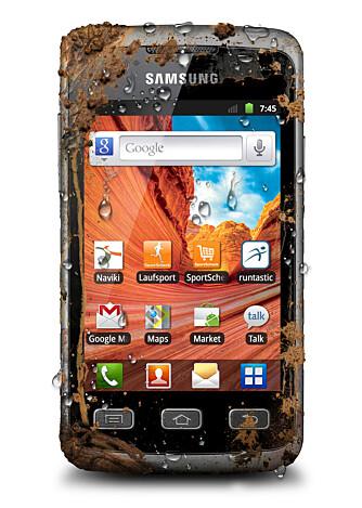 TØFF KOREANER: Samsung Galaxy Xcover er en trykkskjermtelefon som er laget for å tåle juling.
