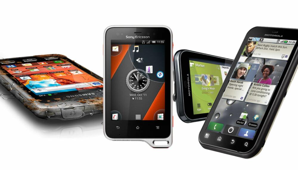 BADEMOBILER: Disse mobilene kan du ikke bare ta med på stranda. Du kan bade med dem også.