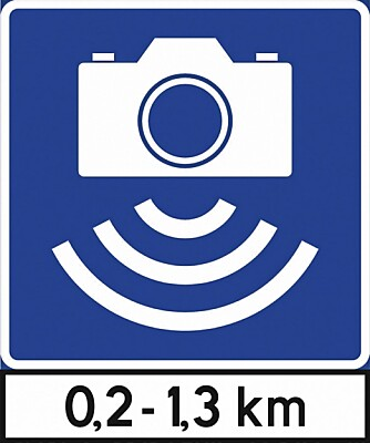 GJENNOMSNITT: Slik ser skiltet ut som varsler at du kjører gjennom en strekning der snitthastigheten måles.