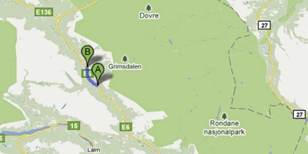 NORD I GUDBRANDSFALEN: På E6 ved Dovreskogen blir du målt i begge retninger.