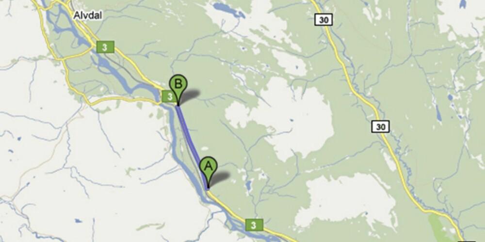GJENNOM ØSTREDALEN: På riksvei 3 ved Alvdal blir du også målt på gjennomsnittsfart