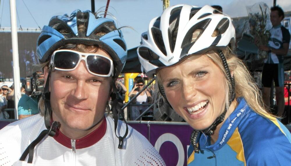 BYSYKLIST: Therese Johaug har nylig flyttet til Oslo, og da er det godt å ha idrettskolleger fra storbyen.