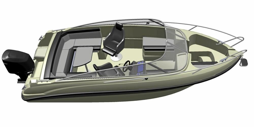 LOMMEKNIV: Sete- og puteløsningene skal representere nytenkningen om bord. Disse kan nemlig arrangeres som alt fra solseng til partykrok med bord og U-sofa.