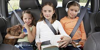 MORO: Tilpass underholdningen i bilen etter hva barna selv ønsker.