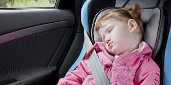 KVALM: Med enkle grep kan du minske risikoen for kvalme barn i bilen.