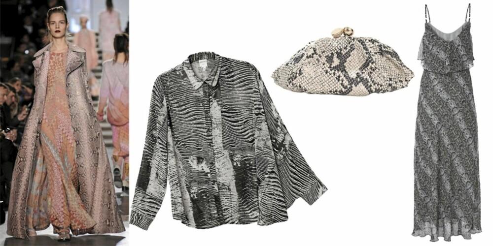FRA VENSTRE: bluse fra Monki (kr 399), pung fra Fiorelli (kr 499), kjole fra Gina Tricot (kr 299).
